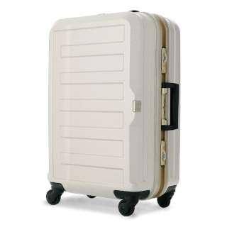 TSAロック搭載スーツケース(47L) ポリカーボネート100%シボ加工 5088-55-IV アイボリー