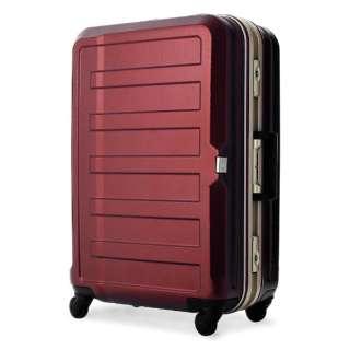 TSAロック搭載スーツケース(61L) ポリカーボネート100%シボ加工 5088-60-WR ワインレッド
