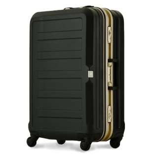 TSAロック搭載スーツケース(85L) ポリカーボネート100%シボ加工 5088-68-BK ブラック