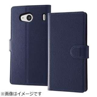 76464e3947 Qua phone QX / DIGNO V用 手帳型ケース シンプル マグネット ダークネイビー RT-