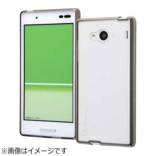 00c9284cb7 Qua phone QX / DIGNO V用 ハイブリッドケース ブラック RT-CR06CC2/B