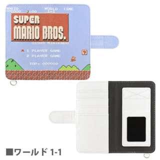 スマートフォン用[幅 70mm/5インチ] スーパーマリオブラザーズ 手帳型スマートフォンカバー Mサイズ ワールド1-1 MRB-02A