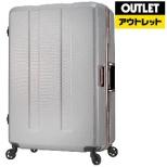 【アウトレット品】 重量チェック機能付きフレームスーツケースH071WHCBホワイトカーボン 670364WHCB (71L) 【数量限定品】