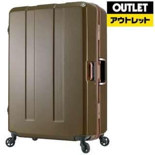 【アウトレット品】 重量チェック機能付きフレームスーツケース H071KHカーキ 670364KH(71L) 【数量限定品】