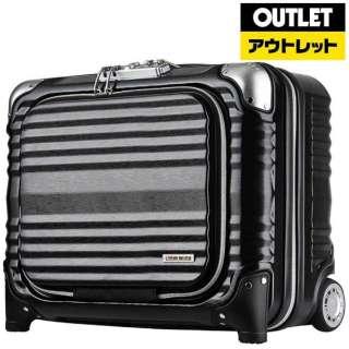 【アウトレット品】 横型二輪ファスナースーツケース H031ブラック 660545BK (34L) 【外装不良品】