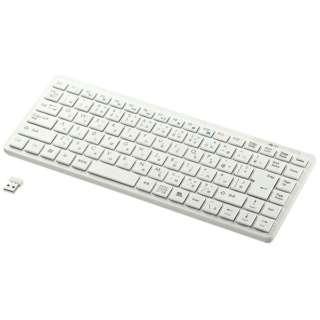 SKB-WL27W キーボード ホワイト [USB /ワイヤレス]