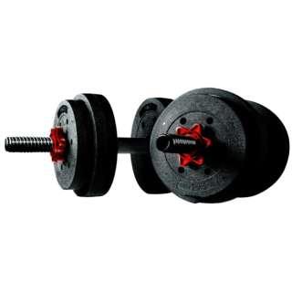 ダンベル【重量可変式】メガダンベルセット(7.5kg×2/ブラック×シルバー)3B-3496