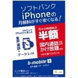 ソフトバンクiPhone版の「b-mobile S スマホ電話SIM」 申込パッケージ ※SIMカード後日発送 BS-IPN-OSV-P