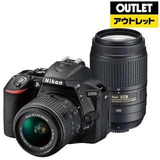【アウトレット品】 デジタル一眼レフカメラ D5500[ダブルズームレンズキット] ブラック 【生産完了品】