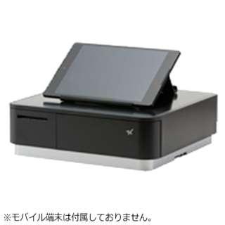 mPOP ブラック(サーマルプリンター付きキャッシュドロア)【レジロール幅58mm、外径40mmタイプ】 POP10-OF2-JP-BLK