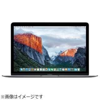 MacBook 12インチ USキーボードモデル[2016年/SSD 256GB/メモリ 8GB/1.1GHzデュアルコアCore m3]スペースグレイ MLH72JA/A