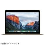 MacBook 12インチ USキーボードモデル[2016年/SSD 256GB/メモリ 8GB/1.1GHzデュアルコアCore m3]ゴールド MLHE2JA/A