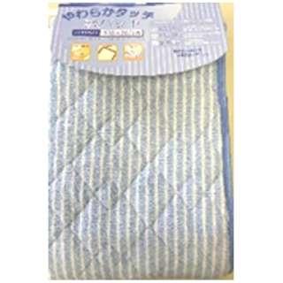 【敷パッド】フランネルストライプ セミダブルサイズ(120×205cm/ブルー)
