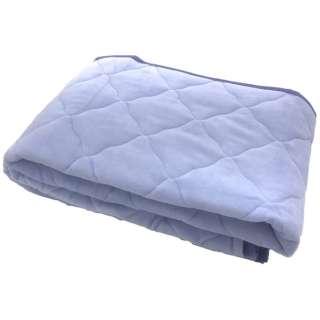 【敷パッド】綿ベロア セミダブルサイズ(120×205cm/ブルー)[生産完了品 在庫限り]
