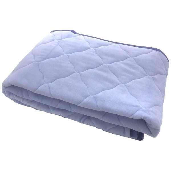 【敷パッド】綿ベロア セミダブルサイズ(120×205cm/ブルー)