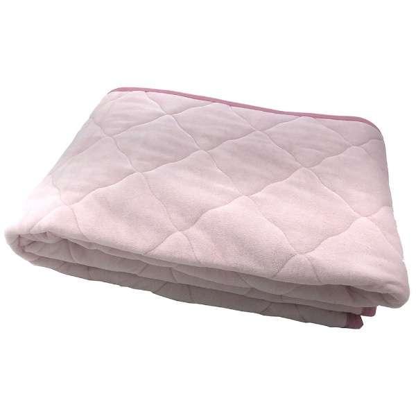 【敷パッド】綿ベロア セミダブルサイズ(120×205cm/ピンク)