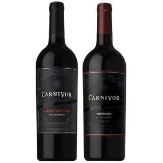 [送料無料!肉専用ブラックワイン] カーニヴォ カベルネ・ジンファンデル飲み比べセット