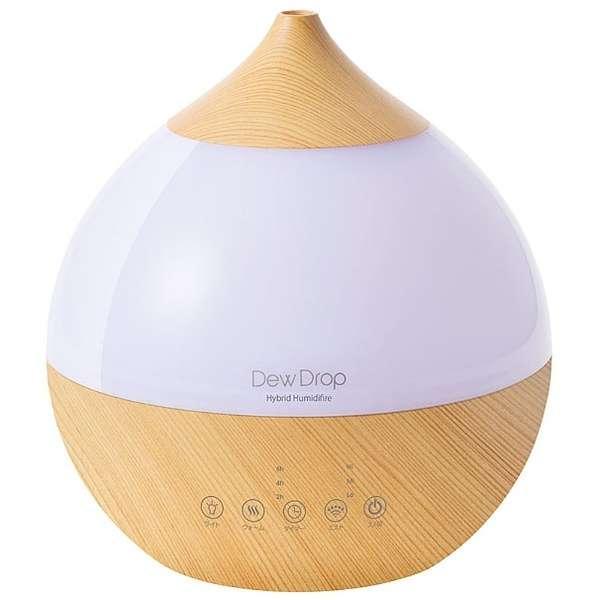 HFT-1718NW加湿器Dew Drop L(deyudoroppu L)天然木材[混合(加热+超声波)式/大约3.3L]