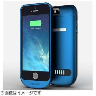 03548fbb25 iPhone SE / 5s / 5用 Elite 2100mAh 大容量バッテリー内蔵ケース ブルー MFi