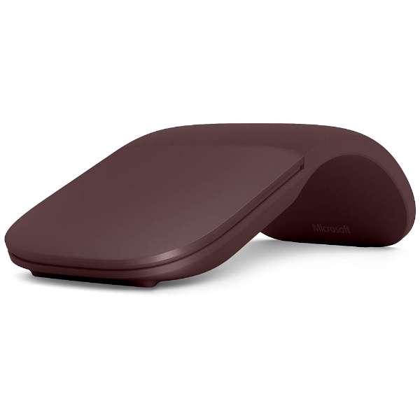 CZV-00017 マウス Surface Arc Mouse バーガンディ [BlueLED /3ボタン /Bluetooth /無線(ワイヤレス)]