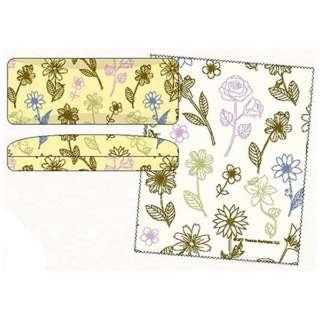 スヌーピー クロス付きスクエアメガネケース(花柄チラシYESN)MAMS-0395