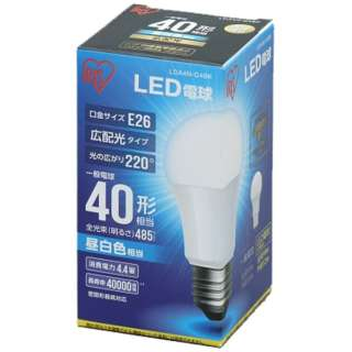 [広配光] LDA4N-G-4BK LED電球 ECOHiLUX(エコハイルクス) ホワイト [E26 /昼白色 /1個 /40W相当 /一般電球形 /広配光タイプ]