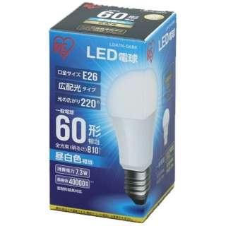 [広配光] LDA7N-G-6BK LED電球 ECOHiLUX(エコハイルクス) ホワイト [E26 /昼白色 /1個 /60W相当 /一般電球形 /広配光タイプ]