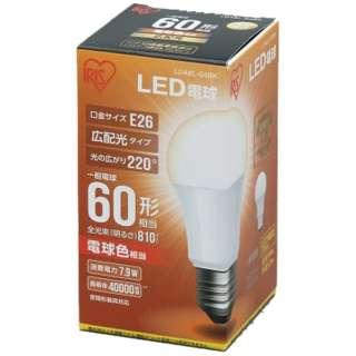 [広配光] LDA8L-G-6BK LED電球 ECOHiLUX(エコハイルクス) ホワイト [E26 /電球色 /1個 /60W相当 /一般電球形 /広配光タイプ]