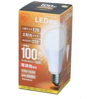 [広配光] LDA14L-G-10BK LED電球 ECOHiLUX(エコハイルクス) ホワイト [E26 /電球色 /1個 /100W相当 /一般電球形 /広配光タイプ]