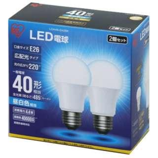 [広配光] LDA4N-G-42BK LED電球 ECOHiLUX(エコハイルクス) ホワイト [E26 /昼白色 /2個 /40W相当 /一般電球形 /広配光タイプ]