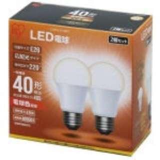[広配光] LDA5L-G-42BK LED電球 ECOHiLUX(エコハイルクス) ホワイト [E26 /電球色 /2個 /40W相当 /一般電球形 /広配光タイプ]
