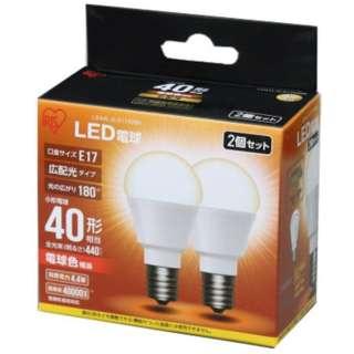 [広配光] LDA4L-G-E1742BK LED電球 ECOHiLUX(エコハイルクス) ホワイト [E17 /電球色 /2個 /40W相当 /一般電球形 /広配光タイプ]