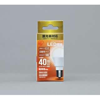 [広配光] LDA5L-G-E17D4BK LED電球 ECOHiLUX(エコハイルクス) ホワイト [E17 /電球色 /1個 /40W相当 /一般電球形 /広配光タイプ]