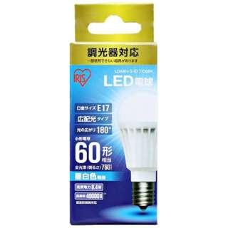 [広配光] LDA8N-G-E17D6BK LED電球 ECOHiLUX(エコハイルクス) ホワイト [E17 /昼白色 /1個 /60W相当 /一般電球形 /広配光タイプ]