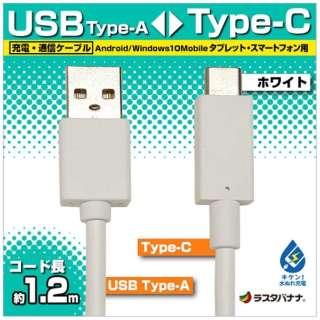 [Type-C]ケーブル 充電・転送 1.2m ホワイト RBHE263 [1.2m]