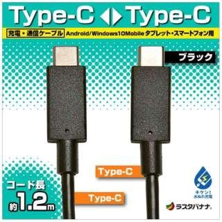 [Type-C ⇔ Type-C]ケーブル 充電・転送 1.2m ブラック RBHE270