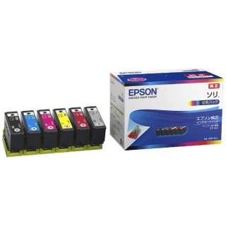 SOR-6CL 純正プリンターインク Colorio(EPSON) 6色パック