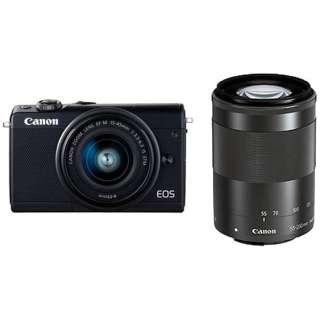 EOS M100 ミラーレス一眼カメラ ダブルズームキット ブラック [ズームレンズ+ズームレンズ]