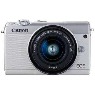 EOS M100 ミラーレス一眼カメラ ホワイト [ズームレンズ]
