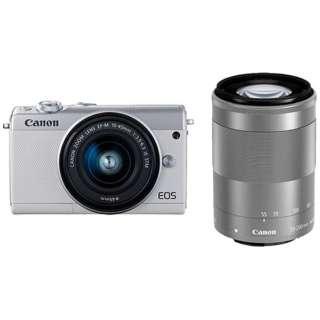 EOS M100 ミラーレス一眼カメラ ダブルズームキット ホワイト [ズームレンズ+ズームレンズ]