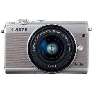 EOS M100 ミラーレス一眼カメラ EF-M15-45 IS STM レンズキット グレー [ズームレンズ]