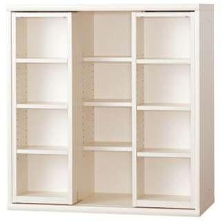 本棚 OF-90スライドオープンホワイト 【受注生産につきキャンセル・返品不可】