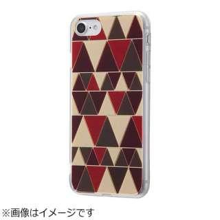 iPhone 7用 ハイブリッドケース ミラーアート 幾何学模様 レッド IJ-P7CC6/GA022