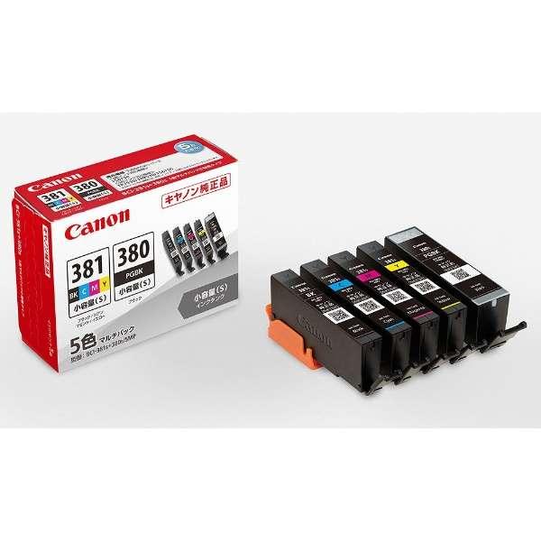 BCI-381s+380s/5MP 純正プリンターインク PIXUS(ピクサス) 5色マルチパック