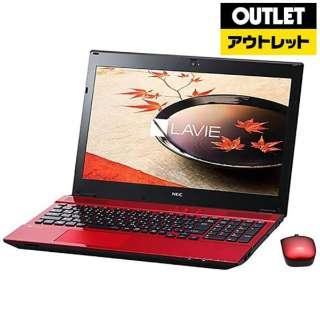 【アウトレット品】 15.6型ノートPC[Win10 Home・Celeron・HDD 500GB・メモリ 4GB・Office Home & Business] LAVIE Smart NS PC-SN16CNSA9-2ルミナスレッド 【生産完了品】