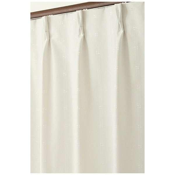 2枚組 ドレープカーテン ジェシー(100×178cm/ホワイト)