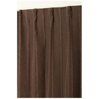 2枚組 ドレープカーテン ジェシー(100×135cm/ブラウン)