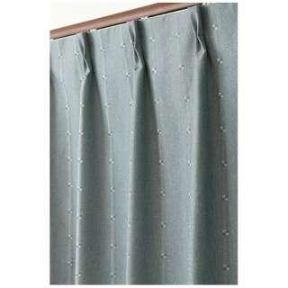 2枚組 ドレープカーテン ジェシー(100×135cm/グリーンブルー)