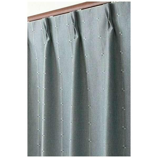 2枚組 ドレープカーテン ジェシー(100×178cm/グリーンブルー)