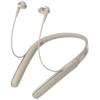 bluetooth イヤホン カナル型 シャンパンゴールド WI-1000XNM [リモコン・マイク対応 /ワイヤレス(ネックバンド) /Bluetooth /ハイレゾ対応 /ノイズキャンセリング対応]